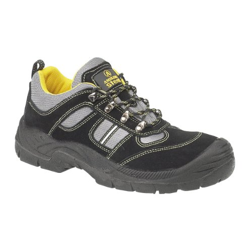 Male - Amblers Steel FS111 Safety Trainer S1-P Black Size UK 9 EU 43 US 9.5
