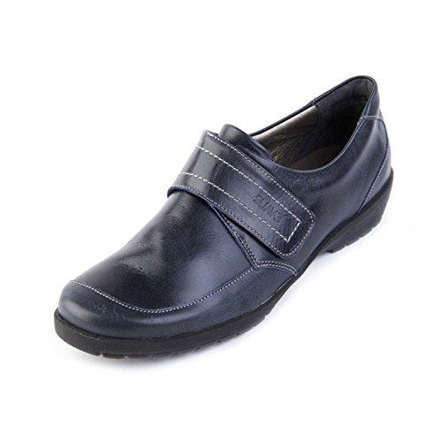 de pour ville Chaussures Bleu lacets à Marine femme Suave axwB56vqx