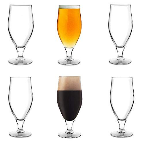 Arcoroc Cervoise Stemmed Beer Larger Glass Glasses Set of 6 380ml ()