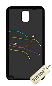 Samsung Note 3 Case,VUTTOO Stylish Colorful Plane Exhaust Soft Case For Samsung Galaxy Note 3 / N9000 / Note3 - TPU Black