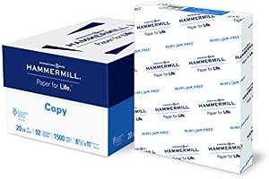 Hammermill Paper, Copy Paper, 8.5 x 11 Paper, Letter Size, 20lb Paper, 92 Bright, 3 Ream Case / 1,500 Sheets (113620C...