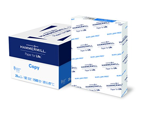 Hammermill Paper, Copy Paper, 20lb, 8.5 x 11, Letter, 92 Bright, 1,500 Sheets/3 Ream Case (113620C) Made In The USA