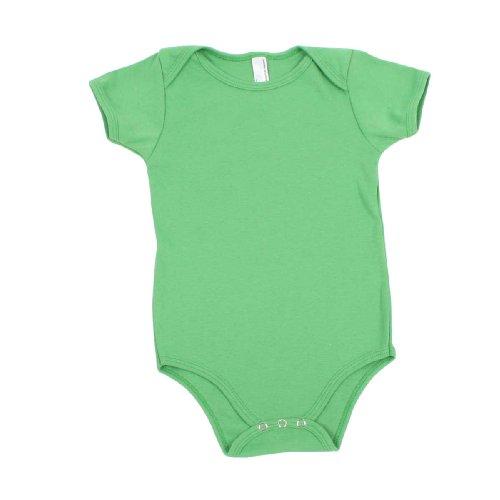 American Apparel Infant's Baby Blue Rib Short-Sleeved Bodysuit 3-6 Months