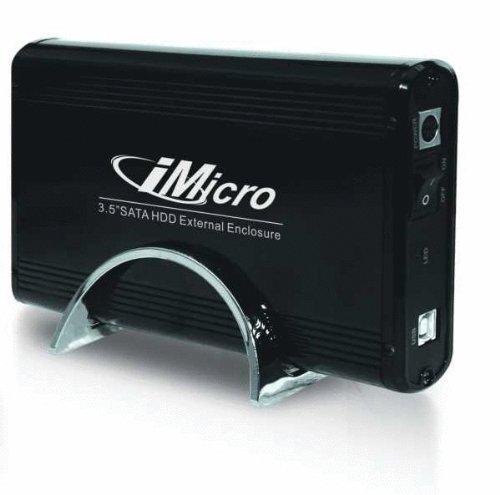iMicro IM35SATABK 3.5 inch USB2.0-SATA External Drive Enclosure -