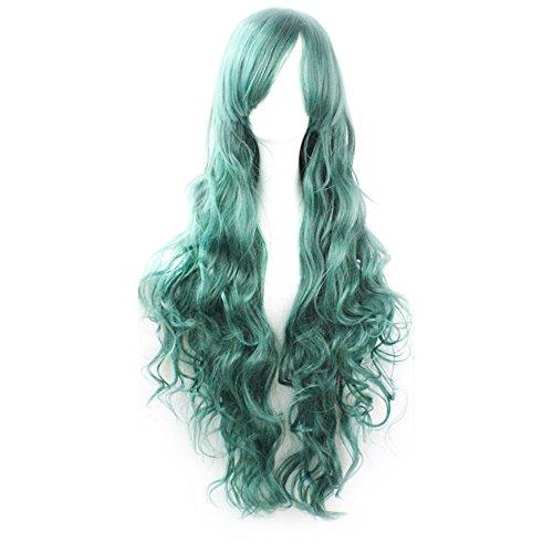 TINYUNICORN Women's 70cm Lolita Fluffy Wavy Party Sexy Hair Full Wig Long (King Neptune Wig)
