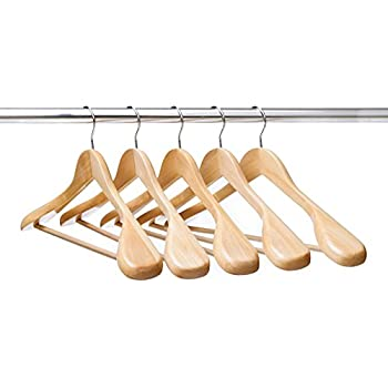wooden coat hanger stand ikea this item clothes hangers suit extra wide shoulder natural finish wood pant pack shirt amazon