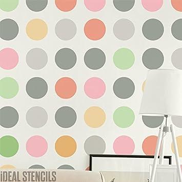 groß gepunktet Schablone Dekoration Wände mit Schablonen ...