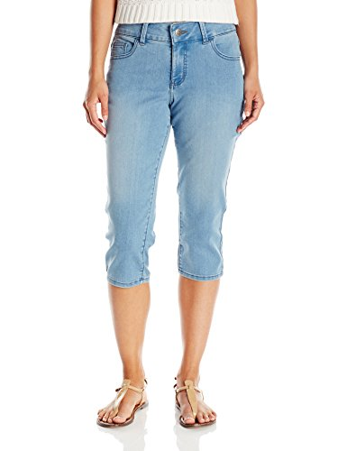 Riders by Lee Indigo Women's Ultra Soft Denim Capri, Sky, 10/Medium (Rider Rise Shorts Low)