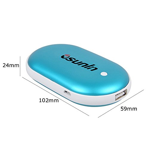 Osunlin 5200mAh Portable Pebbles Double Side Rechargeable Hand Warmer/Power Bank for iPhone/Samsung