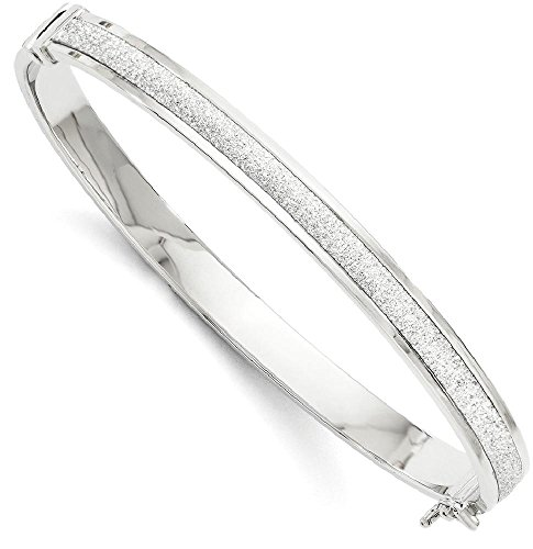 IceCarats 14k White Gold Fancy