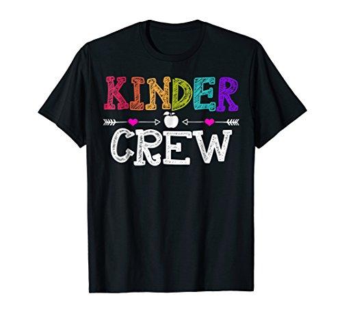 Kindergarten Teacher Shirt Kinder Crew First day of School