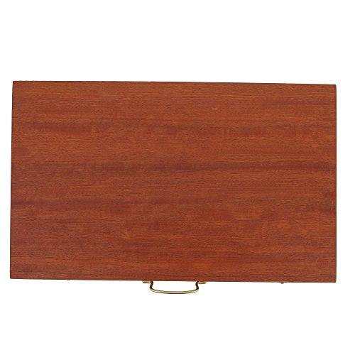 EliteCrafters Handmade Mahogany Wood, Juego de tablero de backgammon, con ranuras, tamaño mediano 38x22.5x5 cm - 15''x8.9''x2 (Cerrado)