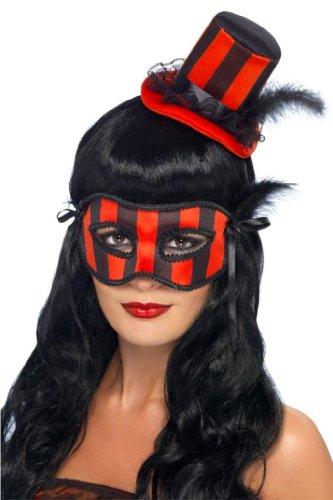 Burlesque Costume Halloween Accessories (Smiffy's Burlesque Kit Costume, Red/Black, One)
