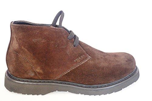 Prada kinder winter Schuhe, Elegant Stiefel aus Braun Echt Wildleder GR;32