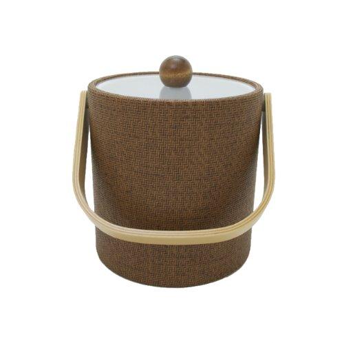 Mr. Ice Bucket 3-Quart Faux Wicker Ice Bucket, Beechwood