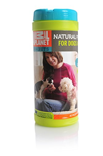 Animal Planet 24005 All Natural Lemongrass Pet Wipes, 8'' x 7'' by Animal Planet