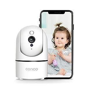 Flashandfocus.com 41hjP6Vf97L._SS300_ Baby Camera, Conico 1080P Home Alexa Camera with Sound Motion Detection, 2-Way Audio Night Vision, Indoor Surveillance…