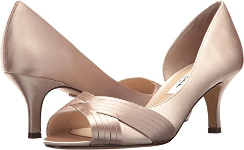 Nina Women's Contesa Champagne Crystal Satin 7.5 M US