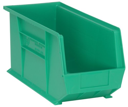 Quantum QUS265 Plastic Storage Stacking Ultra Bin, 18-Inch by 8-Inch by 9-Inch, Green, Case of 6 ()