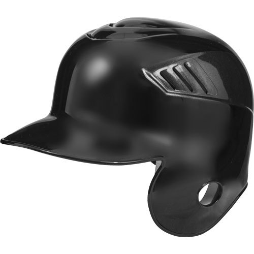 Rawlings Coolflo Single Flap Batting Helmet for Right Handed Batter, Black, Large