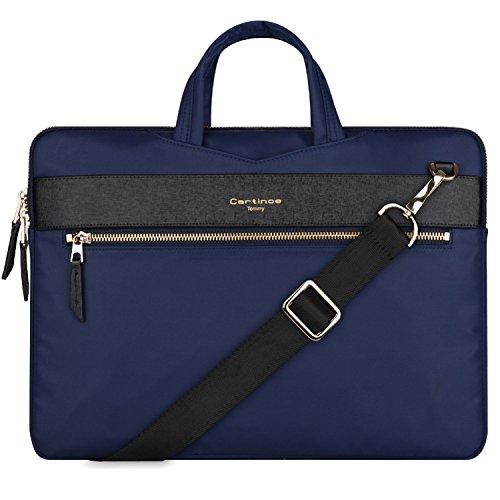 13 inch Laptop Bag, College Business Briefcase Laptop Sleeve Case 12 - 13.3 inch Laptop Shoulder Messenger Bag for Apple Macbook Air Pro/ iPad / Dell ASUS Lenovo HP Acer Chromebook Ultrabook - Blue