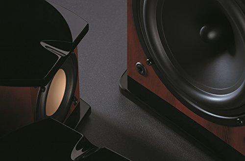 Swan Speakers - M20W - Beautiful Powered 2.1 Living Room Laptop Speakers -  6'' Subwoofer - Rosewood with Pink Gold Aluminium Drivers and Piano Finish - 50W RMS Internal Amplifier by Swan Speakers (Image #5)