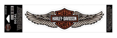 Harley-Davidson Straight Wing Decal Tan LG Size Sticker (Harley Davidson Motorcycle Decals)