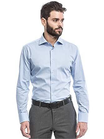 Pierre Cardin Light Blue Shirt Neck Shirts For Men