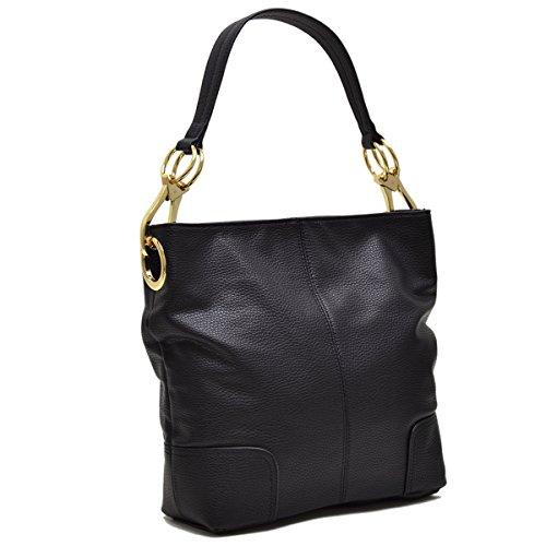 - Dasein Hobo Shoulder Bag Bucket Handbag with Big Snap Hook Hardware