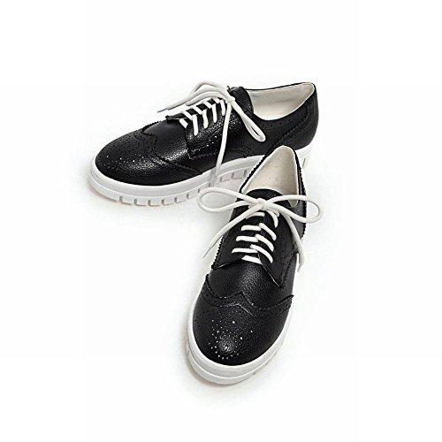 Scarpe Oxford Piatte Di Moda Donna Latasano, Sneakers Moda Nere