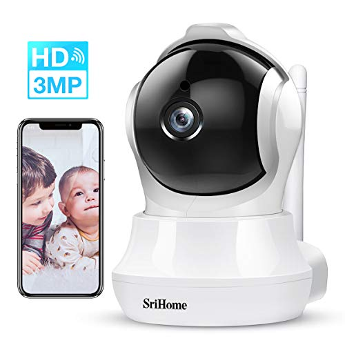 Security Camera,3MP(2304×1296P) Home IP WiFi Cameras Indoor with Two-Way Audio, Motion Detection, AI Mobile Tracking, 32Feet Night Vision, Wireless Surveillance Camera System for Pet/Baby/Elder/Dog Monitor, MicroSD Support