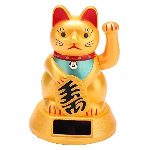 MAXMARTT 흔들며 고양이 행운 고양이의 1PC 태양 강화된 환영을 흔들며 손짓 운 고양이가 가장 자동차 장식 고양이