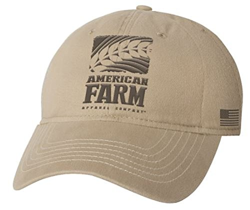 9ad16c2d4c6 Image Unavailable. Image not available for. Color  American Farm Apparel  Company Flag Logo Khaki Cap
