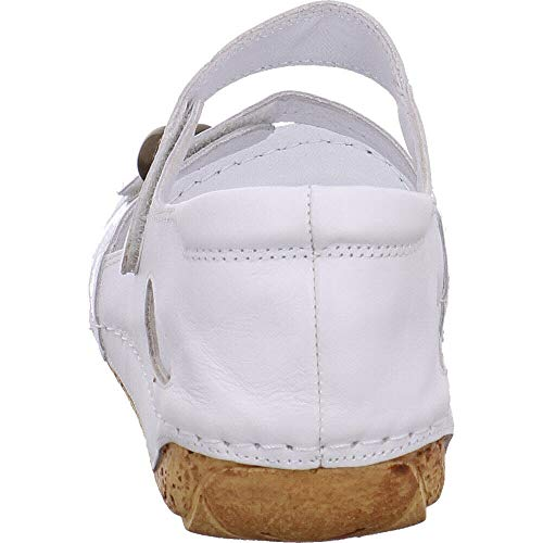 Mujer Piel 32093 001 Sandalias Para De Vestir Gemini Weiß Blanco wAS10qf