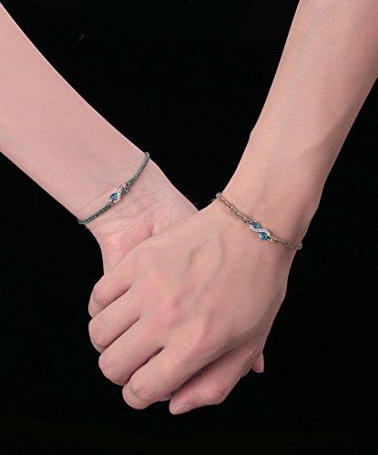 C·QUAN CHI Jewelry Bohemian Braided Friendship Bracelets Woven String Bracelet Boho Style Jewelry Opal Infinity Endless Love Symbol Charm Adjustable Bracelet Lover Couple Bracelet Gifts for Women Man by C·QUAN CHI (Image #3)