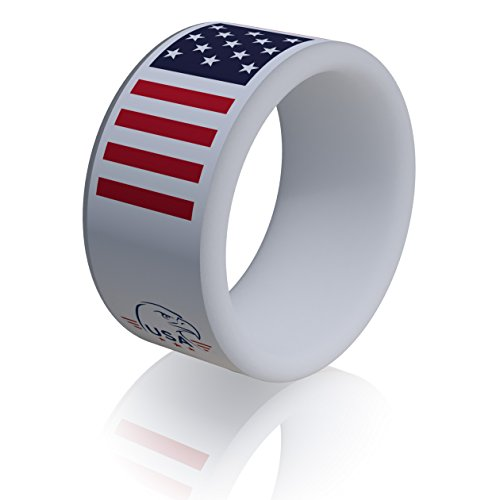 American Flag Ring - Silicone Ring for Men and Women - Old Glory Wedding Band by RYNX - Star-Spangled Banner inspired design(
