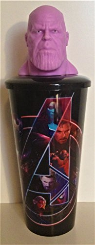 Marvel Comics: Avengers: Infinity War Movie Theater Exclusive 32 oz Cup With Topper Lid Thanos (Cups Wars)