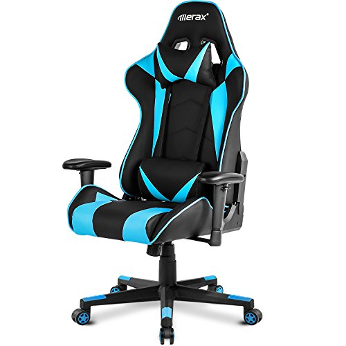 Merax.. High Back Gaming Chair Enlarged Racing Home Office Computer (Blue) by Merax.