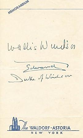 Duke and duchess of windsor autograph photo print