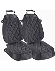 Zodae 2 Stücke Hund Autositzbezug Rutschfest Wasserdicht Haustier Autositz Sitzbezug Autoschutzdecke für Fahrersitz Vordersitze