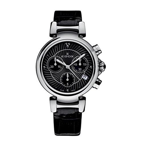 Edox Women's 10220 3C NIN LaPassion Analog Display Swiss Quartz Black Watch