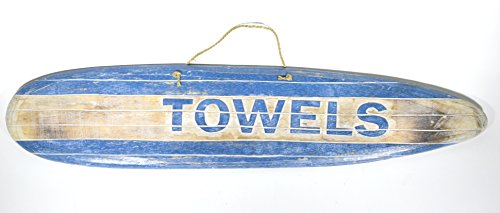 Hand Carved TOWELS SURFBOARD towels beach Surfboard Wooden Wall Hanging Art Sign Tiki Bar Carved Tiki Surfboard