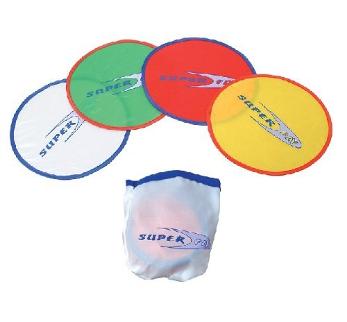 Flying Travel Disc - Rhode Island Novelty (4 Pocket Flying Saucers (Colors may vary)