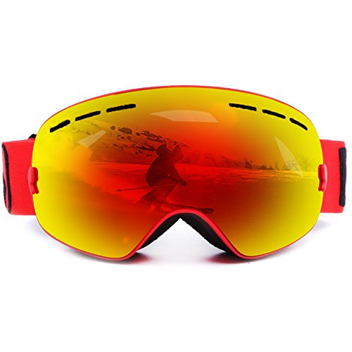 Ski Goggles, Zuanshiyan Double lens Spherical Wide Vision UV Protection Anti-fog Snowboard Ski Glasses For - Arctic Goggles