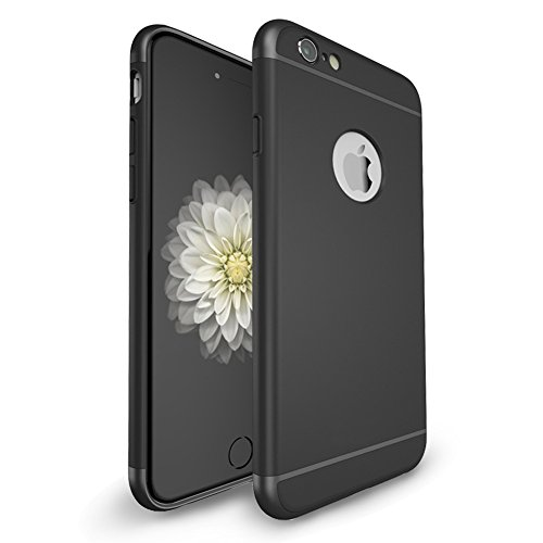iPhone 6/6S Plus Case,iLapland 3 in 1 Ultra Thin and Slim Design Coated Premium Non Slip Surface with Excellent Grip Shockproof Hard Protective Case Fit for iPhone 6/6s Plus (5.5 inch) (Black)