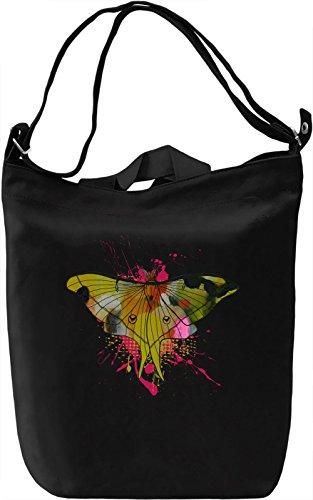 Rainbow Butterfly Borsa Giornaliera Canvas Canvas Day Bag| 100% Premium Cotton Canvas| DTG Printing|