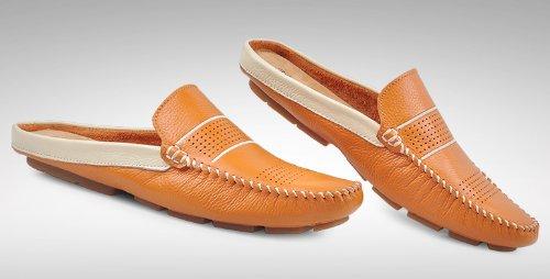 ... Happyshop (tm) Scarpe Slip-on In Pelle Uomo Mocassini Pantofole  Ventilate Sandali Scarpe ... 903dcffaf20
