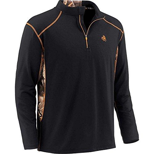 Legendary Whitetails Endurance Performance Quarter Zip Black Medium (Camo Clothing Mens)