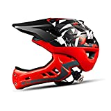 WYNZYTK Children's Helmet, Balance Car Helmet Sliding Step Roller Bicycle Hat Full Helmet Protective Gear Riding Equipment (Color : Red)
