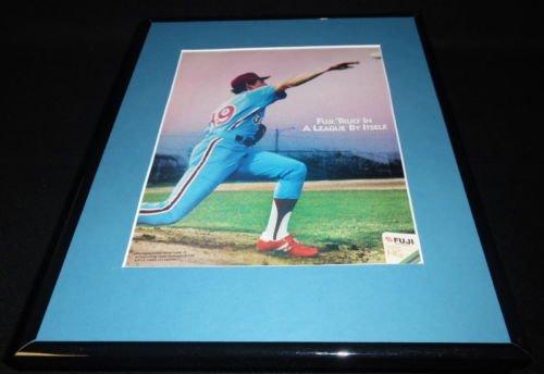 1987 Fuji HG Videocassettes Framed 11x14 ORIGINAL Vintage Advertisement Phillies - Fuji Framed